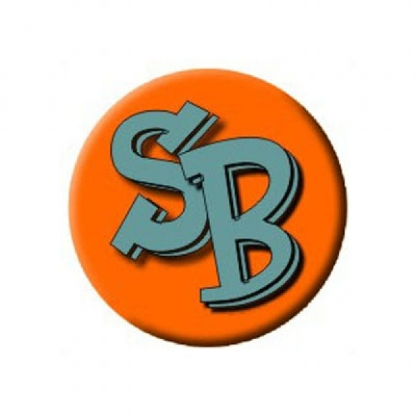 The Silverballs Logo Button - orange